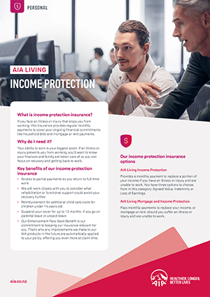 Income Protection Insurance Brochure