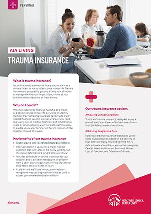 Trauma Insurance Brochure